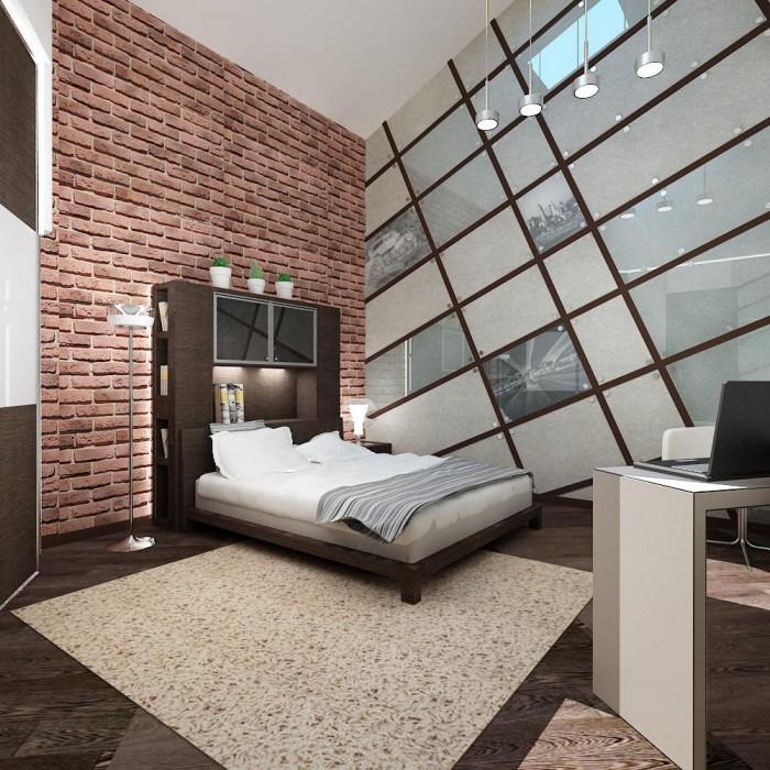 spalnya v stile loft 1
